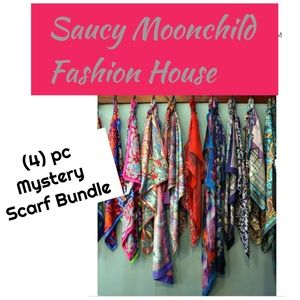 5🌟(4)pc DESIGNER assorted mystery scarf bundle